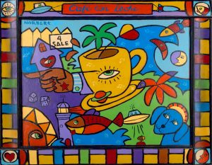Cafe con Leche Matted Giclee Print