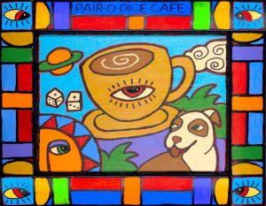 Pair-O-Dice-Cafe Art Print